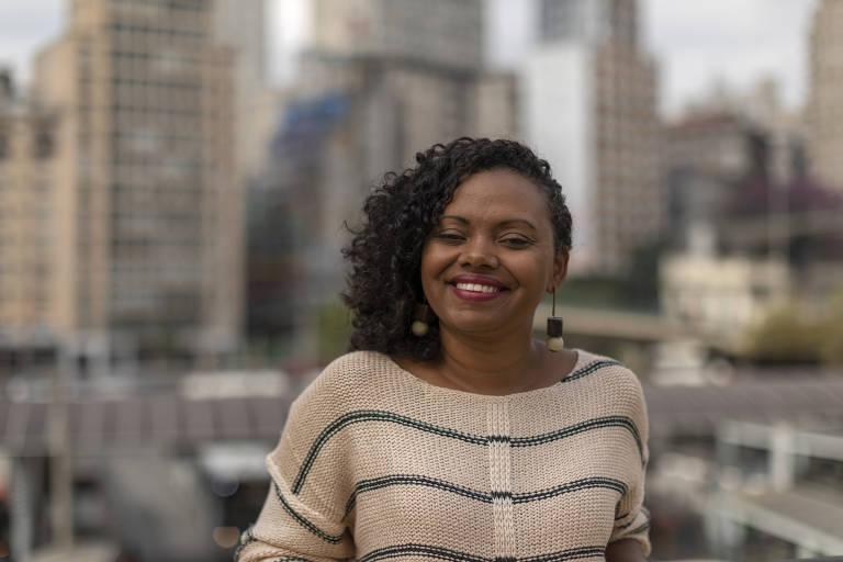 A empreendedora social Adriana Barbosa, fundadora da Feira Preta e da Preta Hub