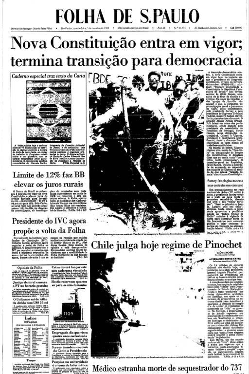 capa da Folha de 5.out.1988