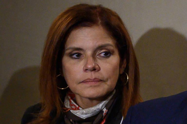 A vice-presidente peruana Mercedes Araoz em Davos, Suíça