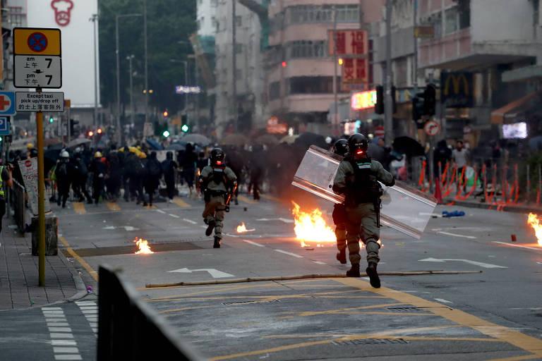 Protestos em Hong Kong em 1º de outubro