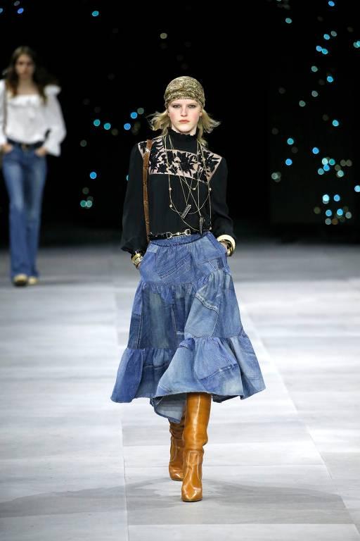 Veja desfile da grife Celine na Semana da Moda de Paris