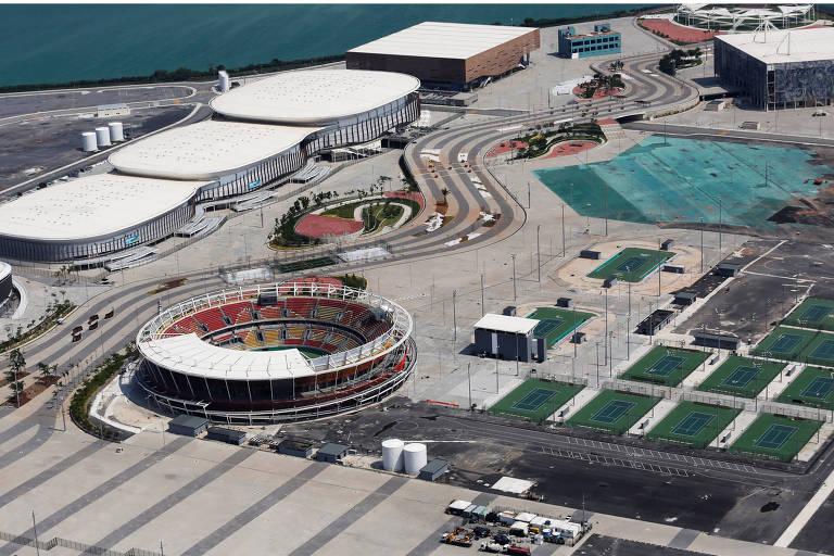 Vista aérea do Parque Olímpico do Rio em 2017