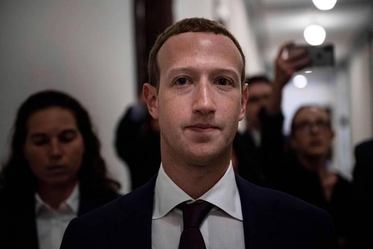 Mark Zuckerberg, CEO do Facebook, durante sua visita ao Congresso americano em setembro