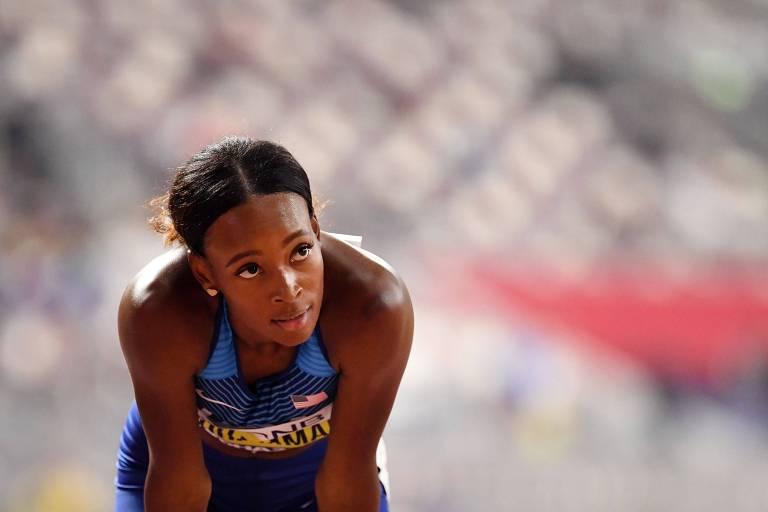 Dalilah Muhammad nas eliminatórias do Mundial de Doha; final dos 400 m com barreiras será na sexta (4)