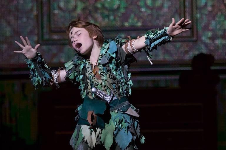 """Matheus Ueta é o protagonista de """"Peter Pan, o Musical""""(Bianca Tatamiya/Divulgação)"""