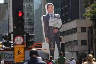 Ato pelo veto à Lei do Abuso de Autoridade na avenida Paulista, no centro de SP