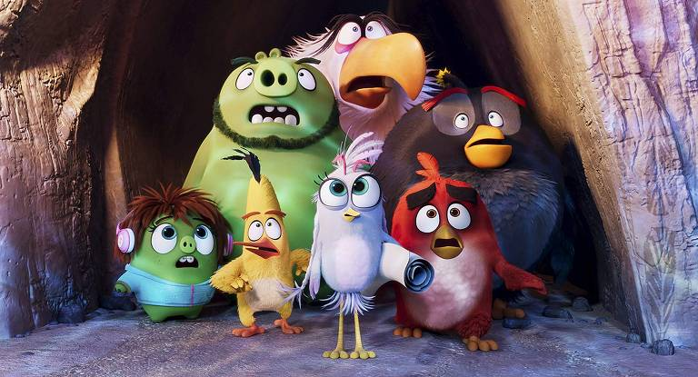"""Cena de """"Angry Birds 2: O Filme"""""""