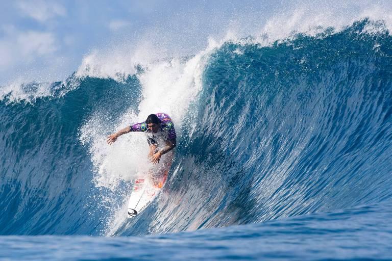 Em 2019, Gabriel Medina ficou com o segundo lugar na etapa do Taiti do Mundial de Surfe
