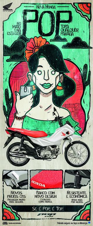 Campanha 'Se é Pop, é Top', da Honda Motos