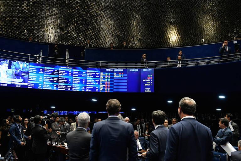 Plenário do Senado Federal durante votação de destaques , votação dos destaques da reforma da Previdência