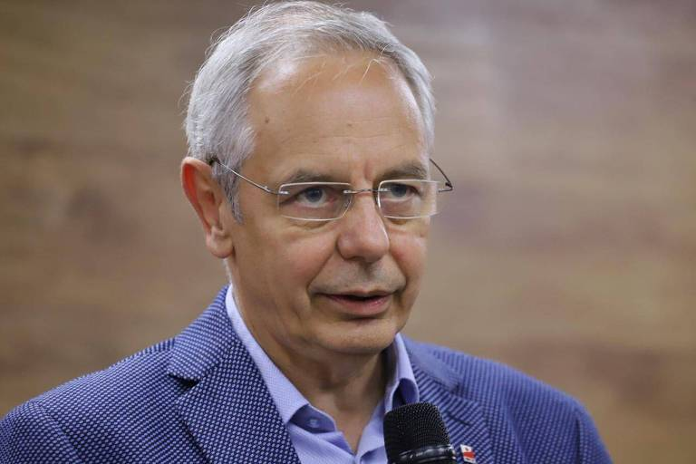 Michael Vassiliadis, presidente do sindicato dos trabalhadores das indústrias de mineração, química e energia da Alemanha, durante visita a São Paulo, em setembro de 2019