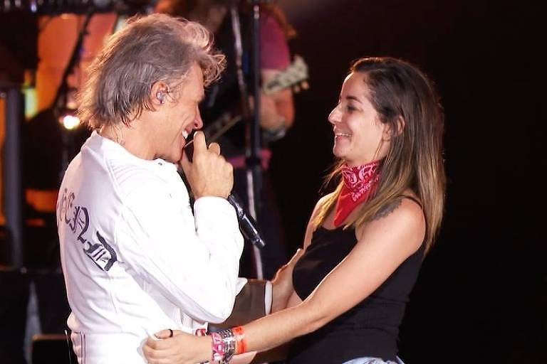 Fã dança com Bon Jovi em show no Rock in Rio