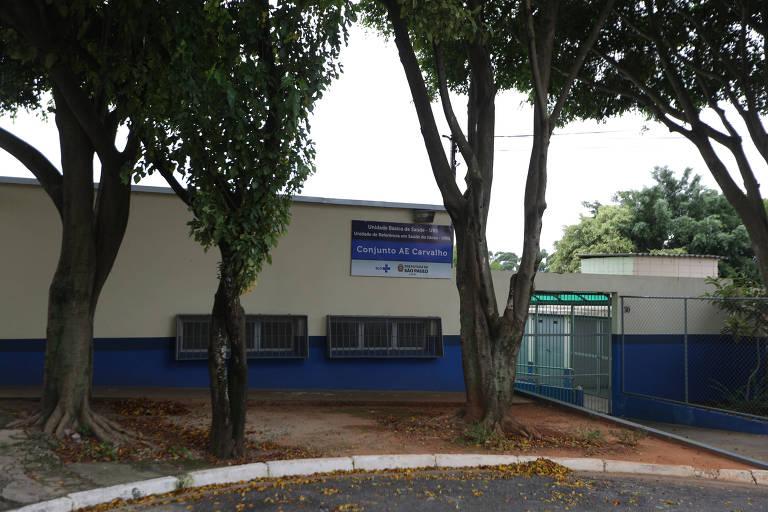 Fachada da UBS AE Carvalho, na zona leste