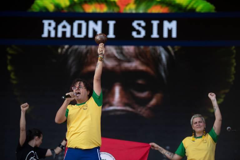 Show das bandas Francisco El Hombre & Monsieur Periné, no palco Sunset, durante o primeiro dia do segundo final de semana do festival Rock in Rio