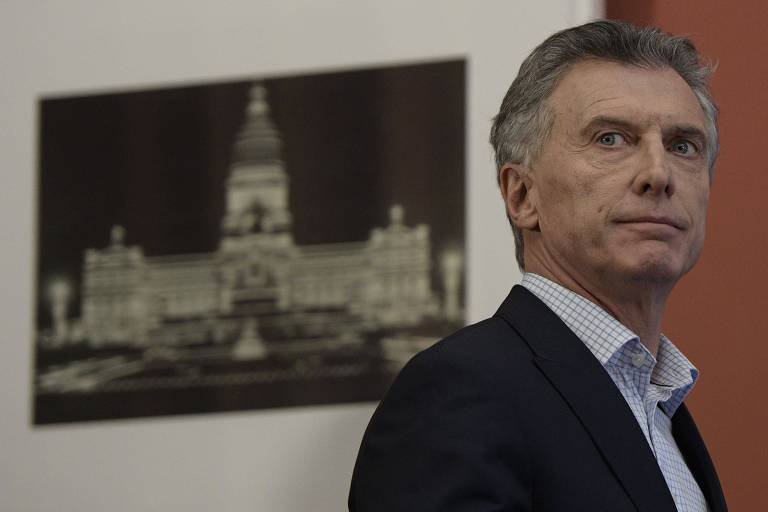 O presidente da Argentina, Mauricio Macri, na Casa Rosada, sede do governo federal do país