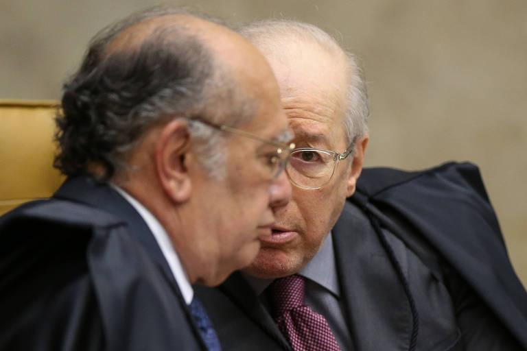 Os ministros Gilmar Mendes e Celso de Mello