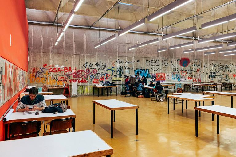 Sala da Faculdade de Arquitetura e Urbanismo da USP, em São Paulo