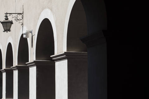 Sao Paulo, SP, BRASIL, 30-09-2019:  Caderno especial do RUF (Ranking Universit‡rio Folha): Arcos do patio interno da Faculdade de Direito da USP ( no Largo S‹o Francisco)  (Foto: Eduardo Knapp/Folhapress, SUPLEMENTOS).