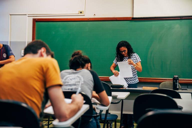 Sala de aula na Faculdade de Zootecnia e Engenharia de Alimentos, no campus da USP em Pirassununga, no interior paulista