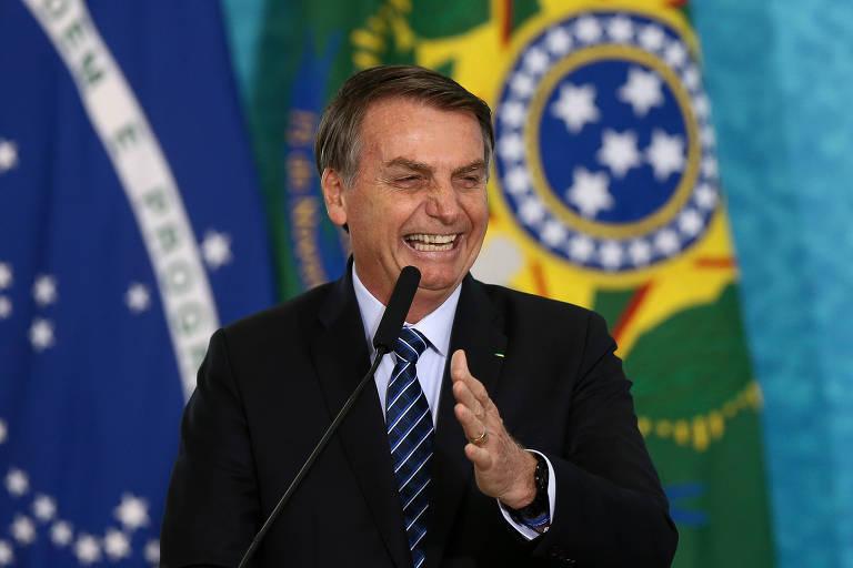 Bolsonaro durante evento no Palácio do Planalto para divulgar o pacote anticrime do ministro Sergio Moro
