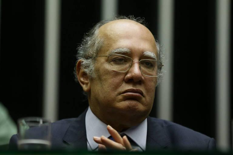 O ministro do Supremo Gilmar Mender, em sessão na Câmara