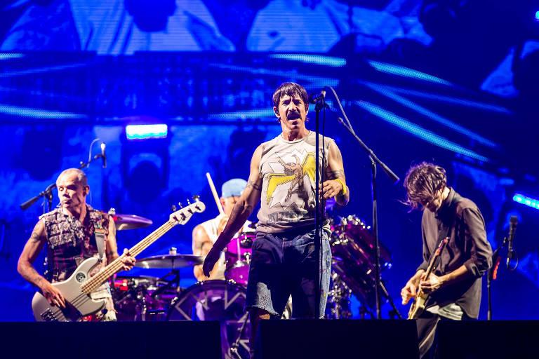 Show da banda Red Hot Chili Peppers no palco Mundo, no quarto dia do festival Rock in Rio