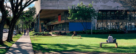 São Paulo, SP, Brasil, 27-09-2019: FAU, Campus USP-SP.  Caderno RUF -Ranking Universitário Folha.  (foto Gabriel Cabral)