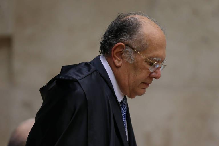 O ministro Gilmar Mendes durante sessão plenária do STF (Supremo Tribunal Federal)