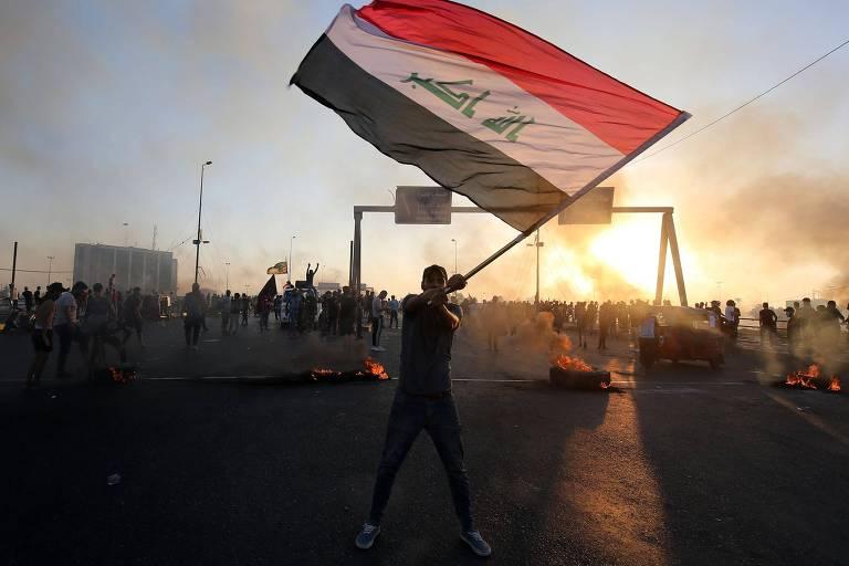 Protestos no início de outubro no Iraque
