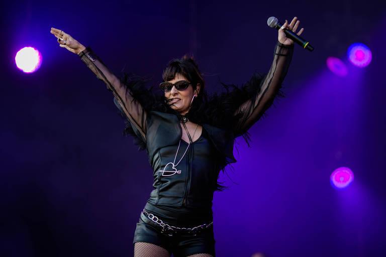 Show de Funk Orquestra com a participação de Fernanda Abreu no palco Sunset, no festival Rock in Rio
