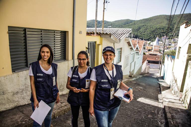 Censo experimental do IBGE em Poços de Caldas, Minas Gerais