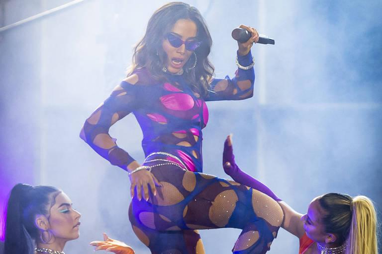 Anitta no palco principal do Rock in Rio