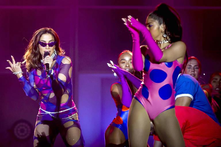 Show da cantora Anitta no palco Mundo, no penúltimo dia do festival Rock in Rio, realizado no parque olímpico, na zona oeste do Rio de Janeiro