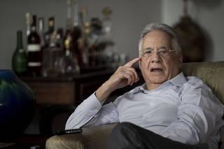 Fernando Henrique Cardoso (PSDB) em seu apartamento em SP