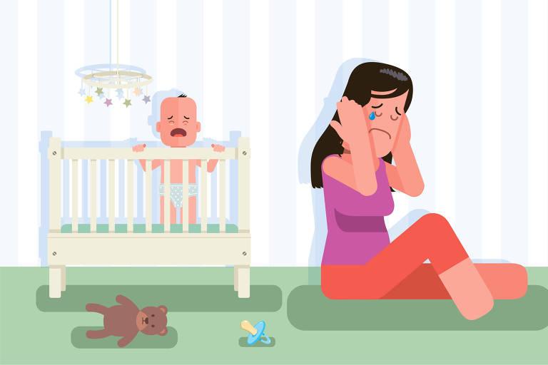 ilustra viva bem depressão pós parto de 6 de outubro