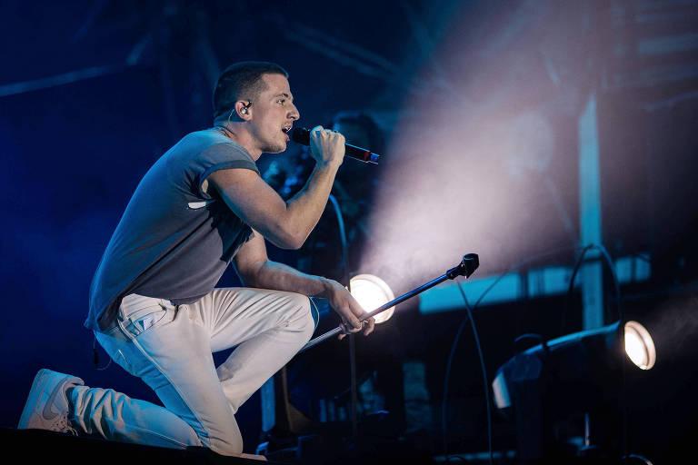 Show do cantor Charlie Puth no palco Sunset, durante o penúltimo dia do festival Rock in Rio