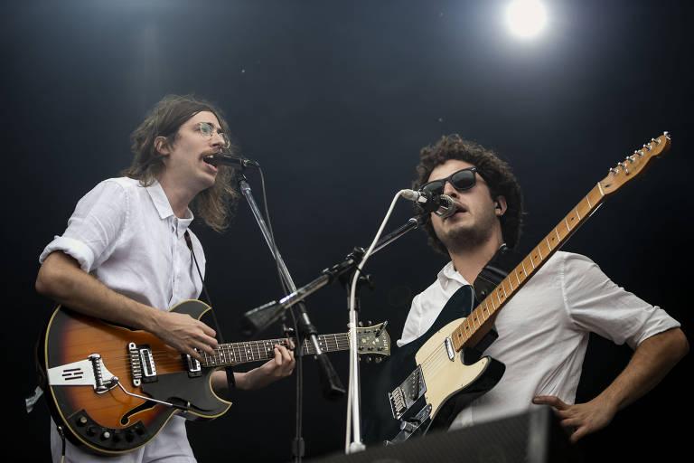 Show das bandas O Terno e Capitão Pausto no palco Sunset, durante o último dia do festival Rock in Rio