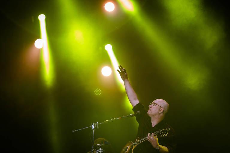 Show da banda Os Paralamas do Sucesso, no palco Mundo, durante o quarto dia do segundo final de semana do festival Rock in Rio
