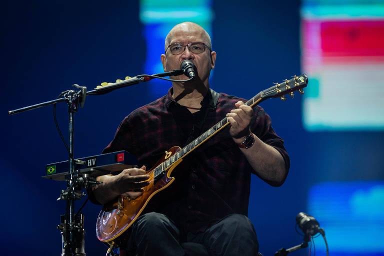 Show da banda Os Paralamas do Sucesso, no palco Mundo, durante o festival Rock in Rio