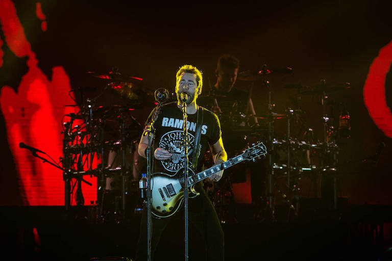 Nickelback no palco do Rock in Rio