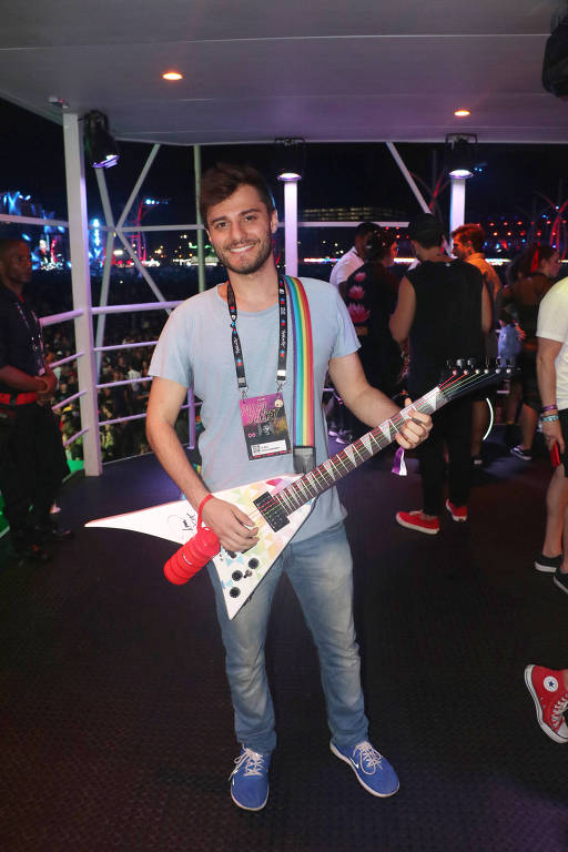 Hugo Bonemer curte o Camarote Doritos no Rock in Rio