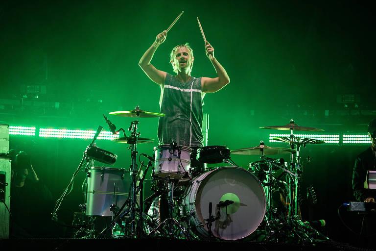 Show da banda Muse no palco Mundo, no último dia do festival Rock in Rio