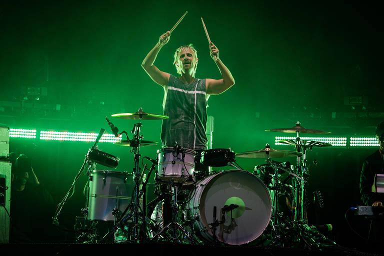 Show da banda Muse fecha o sétimo dia de Rock in Rio na Cidade do Rock