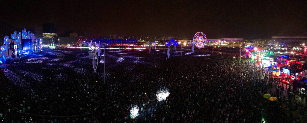 Vista geral durante show do Nickelback do festival Rock in Rio