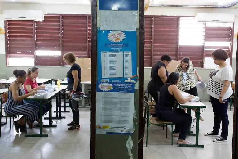 Eleições do Conselho Tutelar no Rio de Janeiro na Escola Municipal Soares Pereira, na Tijuca