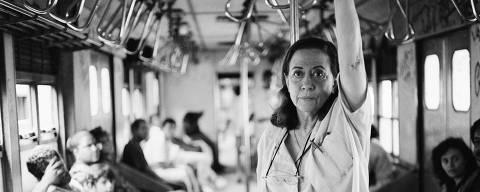 Fernanda Montenegro no set de 'Central do Brasil', de Walter Salles, em foto  feita pelo diretor de fotografia Walter Carvalho. PARA USO EXCLUSIVO DA ILUSTRADA
