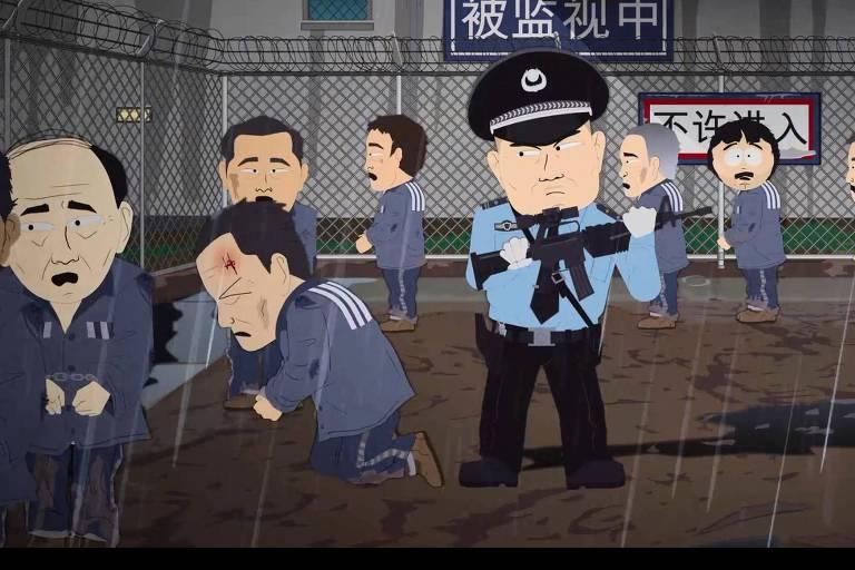 guarda maltrata homem em campos de trabalho