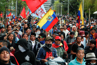 Protest against Ecuador's President Lenin Moreno's austerity measures in Quito