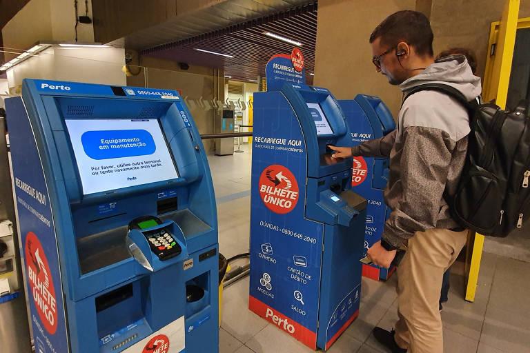 Máquinas de recarga de Bilhete Único estão em manutenção na linha 4-amarela