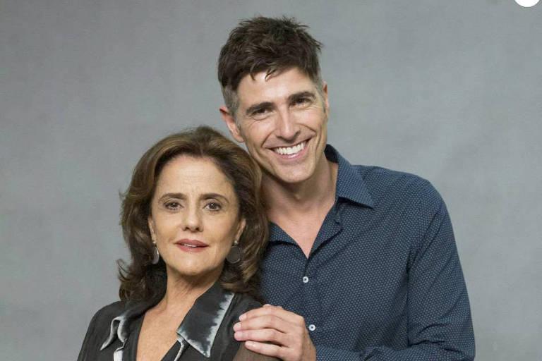 Fanny (Marieta Severo) e Anthony (Reynaldo Gianecchini)  em 'Verdades Secretas (2015)